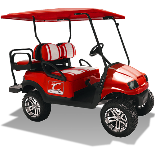 Red Corporate Golf Cart