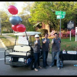 Company Golf Cart with Balloons
