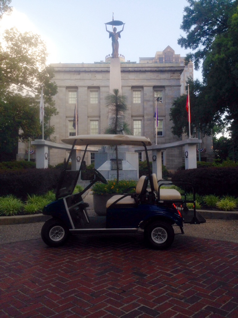 Golf Cart in front of Capitol Building