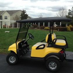 Yellow Street Legal Golf Cart