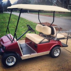 Red Street Legal Golf Cart
