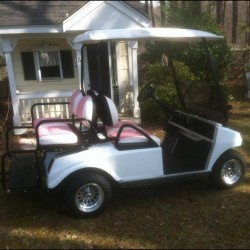 Street Legal Golf Cart with Pink Seats