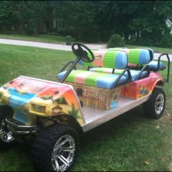Multi-Color Street Legal Golf Cart