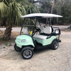 "Custom 2020 Seafoam, 4-Passenger Club Car Onward With 12"" Rims"