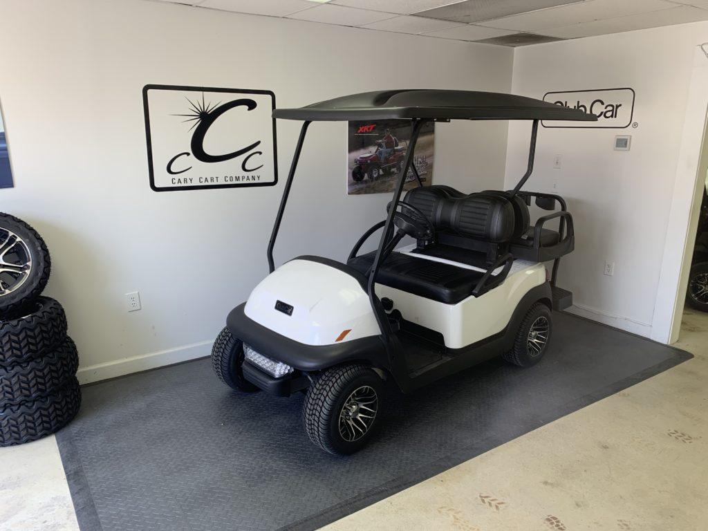"2015 White, 4-Passenger Club Car Precedent With Rear Flip Seat And 10"" Rims"