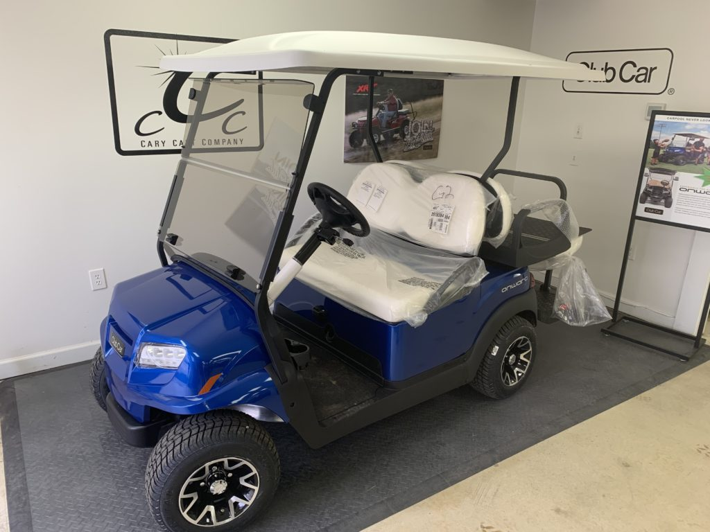2020 Pearl Blue, 4-Passenger Club Car Onward With LED Deluxe Lights And Dual USB Port