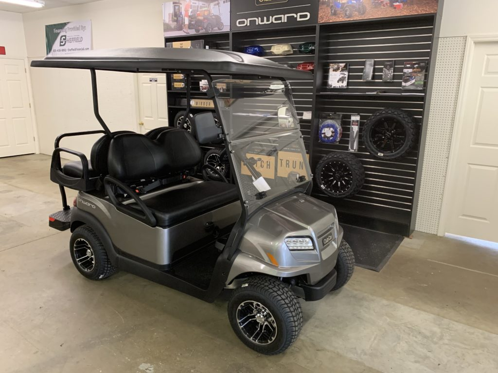 "2020 Metallic Platinum, 4-Passenger Club Car Onward With 4"" Lift Kit & Legal Street Vehicle Package"